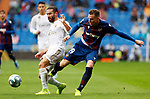 Real Madrid CF's Dani Carvajal and Levante UD's Carlos Clerc during La Liga match. Aug 24, 2019. (ALTERPHOTOS/Manu R.B.)