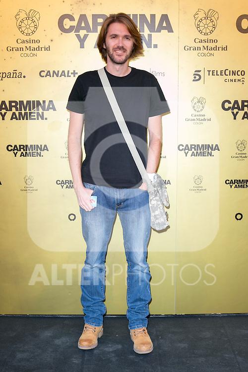 "Spanish director Manuel Velasco attend the Premiere of the movie ""Carmina y Amen"" at the Callao Cinema in Madrid, Spain. April 28, 2014. (ALTERPHOTOS/Carlos Dafonte)"