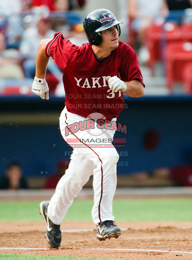 August 1 2008: Anthony Smith of the Yakima Bears, Short Season Class-A affiliate of the Arizona Diamondbacks, during a game at Home of the Avista Stadium in Spokane, WA.  Photo by:  Matthew Sauk/Four Seam Images