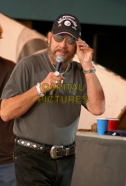 16 July 2005 - Morristown, Ohio - Hank Williams Jr. Jamboree in the Hills 2005 - Day Three, part of  a four day outdoor Country Music Festival that for the past 28 years has had over 100,000 fans per year flock to the rolling hills of Eastern Ohio to catch the hottest country acts in the nation. Photo Credit: Kelly Blecher/AdMedia