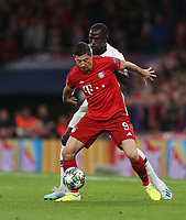 Bayern Munich's Robert Lewandowski and Tottenham Hotspur's Moussa Sissoko<br /> <br /> Photographer Rob Newell/CameraSport<br /> <br /> UEFA Champions League Group B  - Tottenham Hotspur v Bayern Munich - Tuesday 1st October 2019 - White Hart Lane - London<br />  <br /> World Copyright © 2018 CameraSport. All rights reserved. 43 Linden Ave. Countesthorpe. Leicester. England. LE8 5PG - Tel: +44 (0) 116 277 4147 - admin@camerasport.com - www.camerasport.com