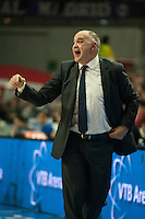 Real Madrid´s Pablo Laso during 2014-15 Euroleague Basketball match between Real Madrid and Anadolu Efes at Palacio de los Deportes stadium in Madrid, Spain. December 18, 2014. (ALTERPHOTOS/Luis Fernandez) /NortePhoto /NortePhoto.com