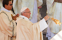 Papa Francesco celebra una messa per la conclusione del Giubileo della Misericordia, in Piazza San Pietro, Citta' del Vaticano, 20 novembre 2016.<br /> Pope Francis celebrates a Mass for the conclusion of the Jubilee of Mercy, in St. Peter's Square at the Vatican, 20 November 2016.<br /> UPDATE IMAGES PRESS/Riccardo De Luca<br /> <br /> STRICTLY ONLY FOR EDITORIAL USE