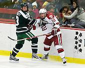 Adam Estoclet (Dartmouth - 23), Colin Moore (Harvard - 12) - The Harvard University Crimson defeated the Dartmouth College Big Green 4-1 (EN) on Monday, January 18, 2010, at Bright Hockey Center in Cambridge, Massachusetts.