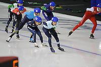 SPEEDSKATING: CALGARY: 15-11-2015, Olympic Oval, ISU World Cup, Mass Start B-division, Mathias Vosté (BEL), ©foto Martin de Jong