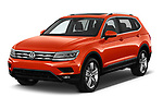 2018 Volkswagen Tiguan SEL 4Motion 5 Door SUV angular front stock photos of front three quarter view