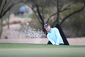 February 2nd 2019, Scottsdale, Arizona, USA; Russell Knox hits out of the bunker on the second hole during the third round of the Waste Management Phoenix Open on February 02, 2019, at TPC Scottsdale in Scottsdale, AZ.