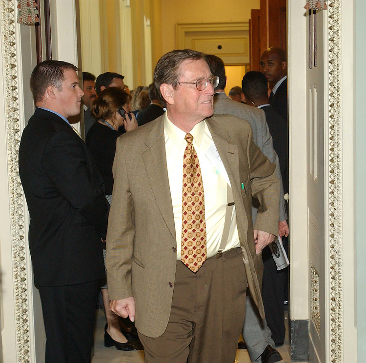 10/15/03.SENATE GOP LUNCHEON--Senate Energy Chairman Pete V. Domenici leaves after the Senate Republican luncheon..CONGRESSIONAL QUARTERLY PHOTO BY SCOTT J. FERRELL