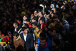 Sunlight falls on people listening to speakers at Newroz, the Kurdish New Year celebration, in Diyarbakir, Turkey, March 21, 2015. Newroz, or Nowruz, is an ancient holiday celebrated by a multitude of ethnic groups across Iran, Central Asia, and the Caucuses, and ushers in the first day of Spring, March 21. For Kurds, Newroz is a means of political and cultural expression, featuring Kurdish politicians, activists, and musicians, and has become a manifestation of Kurdish identity. In Turkey, the celebrations begin a few days before the Vernal Equinox, culminating in a huge gathering in the heart of Turkey's Kurdish population, the southeastern city of Diyarbakir. This year, PKK founder Abdullah Öcalan, who despite serving a life sentence for treason still enjoys widespread influence among Kurds, sent a letter that was read at Newroz in Diyarbakir, calling for an end to the PKK's armed struggle against the Turkish state.