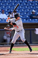 June 11th 2008:  Ryan Adams of the Delmarva Shorebirds, Class-A affiliate of the Baltimore Orioles, during a game at Classic Park in Eastlake, OH.  Photo by:  Mike Janes/Four Seam Images