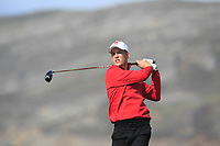 Gaelen Trew from Wales on the 4th tee during Round 2 Singles of the Men's Home Internationals 2018 at Conwy Golf Club, Conwy, Wales on Thursday 13th September 2018.<br /> Picture: Thos Caffrey / Golffile<br /> <br /> All photo usage must carry mandatory copyright credit (&copy; Golffile | Thos Caffrey)