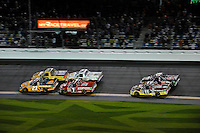 Jason White (#23), Johnny Sauter (#13), John King (#7), Ron Hornaday, Jr. (#9), Todd Bodine (#11) and Joey Coulter (#22)