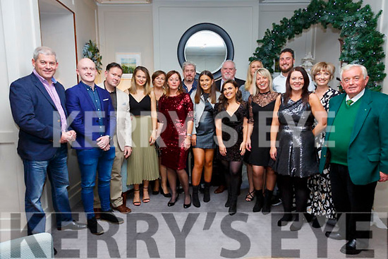 Some of the staff from the Waterville Golf Links at their Christmas Party night out in the Sea Lodge in Waterville on Saturday night pictured here l-r; Mike Murphy, Stephen Cronin, Mike Fitzgerald, Donna Fitzgerald, Christine Fitzgerald, Colette Murphy, William Murphy, Amy Sugrue, Robbie O'Mahony, Joanna Curran, Maura Keating, Sara O'Dwyer, Sean Morris, Stephanie Cronin, Jackie Huggard & Noel Cronin.