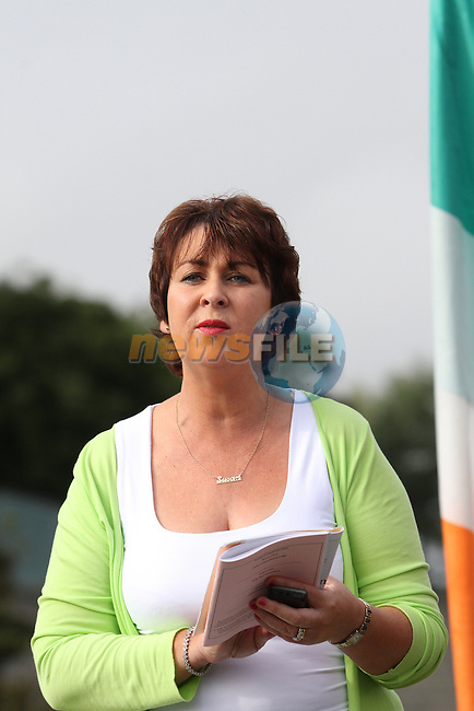 Susan Greene, Chairperson of Bol Chumann na hEireann at the All Ireland Junior and Novice Road Bowling Finals hosted by the Drogheda and District Road Bowls Club on the Baltray Road, Drogheda, Co.Louth....Photo NEWSFILE/Jenny Matthews.