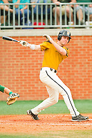 Dane Opel #47 of the Missouri Tigers follows through on his swing against the Charlotte 49ers at Robert and Mariam Hayes Stadium on February 27, 2011 in Charlotte, North Carolina.  Photo by Brian Westerholt / Four Seam Images