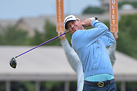 Vaughn Taylor (USA) watches his tee shot on 11 during Round 2 of the Valero Texas Open, AT&amp;T Oaks Course, TPC San Antonio, San Antonio, Texas, USA. 4/20/2018.<br /> Picture: Golffile | Ken Murray<br /> <br /> <br /> All photo usage must carry mandatory copyright credit (&copy; Golffile | Ken Murray)