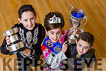 Saoirse Clifford Killarney who won the u9 competition for the third year in a row and also won the u10 competition also at the Oireactas Rince Na Mumhan in the INEC over the weekend with her brothers Mark and Conor who were also successful in their categories