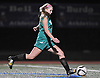 Carle Place No. 8 Carly Ackerina scores on a penalty kick during the Nassau County varsity girls' soccer Class C final against Wheatley at Cold Spring Harbor High School on Tuesday, November 3, 2015.<br /> <br /> James Escher