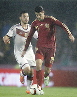 Spain's Alvaro Morata (r) and Germany's Volland during international friendly match.November 18,2014. (ALTERPHOTOS/Acero) /NortePhoto<br />