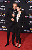 LOS ANGELES, CA - OCTOBER 10: Actor Jeff Goldblum and Emilie Livingston arrive at the premiere of Disney and Marvel's 'Thor: Ragnarok' at the El Capitan Theatre on October 10, 2017 in Los Angeles, California.<br /> CAP/ROT/TM<br /> &copy;TM/ROT/Capital Pictures