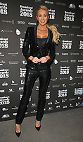 Olivia Attwood at the Broadcast Awards 2018, Grosvenor House Hotel, Park Lane, London, England, UK, on Wednesday 07 February 2018.<br /> CAP/CAN<br /> &copy;CAN/Capital Pictures