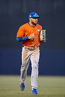 St. Lucie Mets center fielder Desmond Lindsay (2) jogs to the dugout during a Florida State League game against the Tampa Tarpons on April 10, 2019 at George M. Steinbrenner Field in Tampa, Florida.  St. Lucie defeated Tampa 4-3.  (Mike Janes/Four Seam Images)