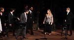Christine Baranski, Raul Esparza, Michael Stuhlbarg, David Harbour, Jesse L. Martin, Meryl Streep & Kevin Kline.pictured during Curtain Call for the Public Theater Celebrates 50 Years at the Delacorte Theater with a Benefit Reading of ''Romeo And Juliet'  in Central Park, New York City on June 18, 2012