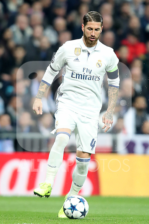Real Madrid's Sergio Ramos during Champions League 2016/2017 Round of 16 1st leg match. February 15,2017. (ALTERPHOTOS/Acero)