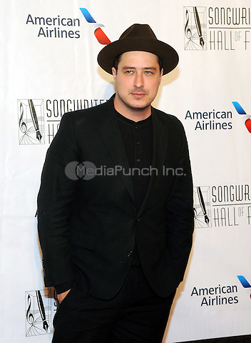 NEW YORK, NY - JUNE 09: Marcus Mumford attends the 47th Annual Songwriters Hall Of Fame Induction And Awards Gala at The New York Marriott Marquis on June 9, 2016 in New York City.  Photo Credit:John Palmer/ Media Punch