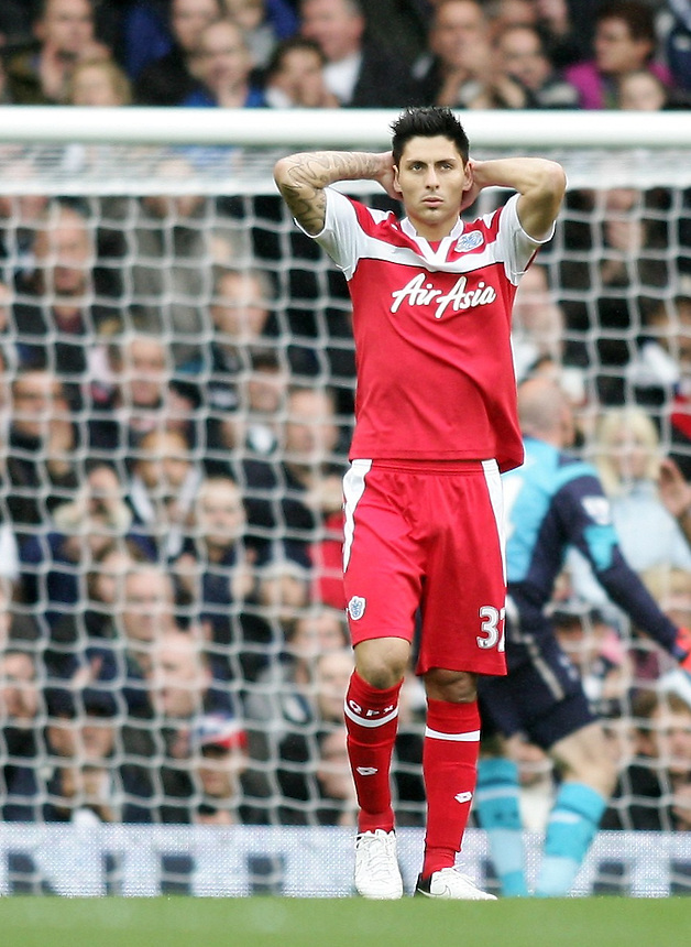 Dejected Queens Park Rangers' Alejandro Faurlin ..Football - Barclays Premiership - Tottenham Hotspur v Queens Park Rangers - Sunday 23rd September 2012 - White Hart Lane - London..