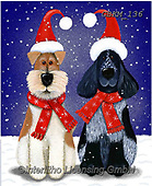 Kate, CHRISTMAS ANIMALS, WEIHNACHTEN TIERE, NAVIDAD ANIMALES, paintings+++++Christmas page 107,GBKM136,#xa# ,dog,dogs