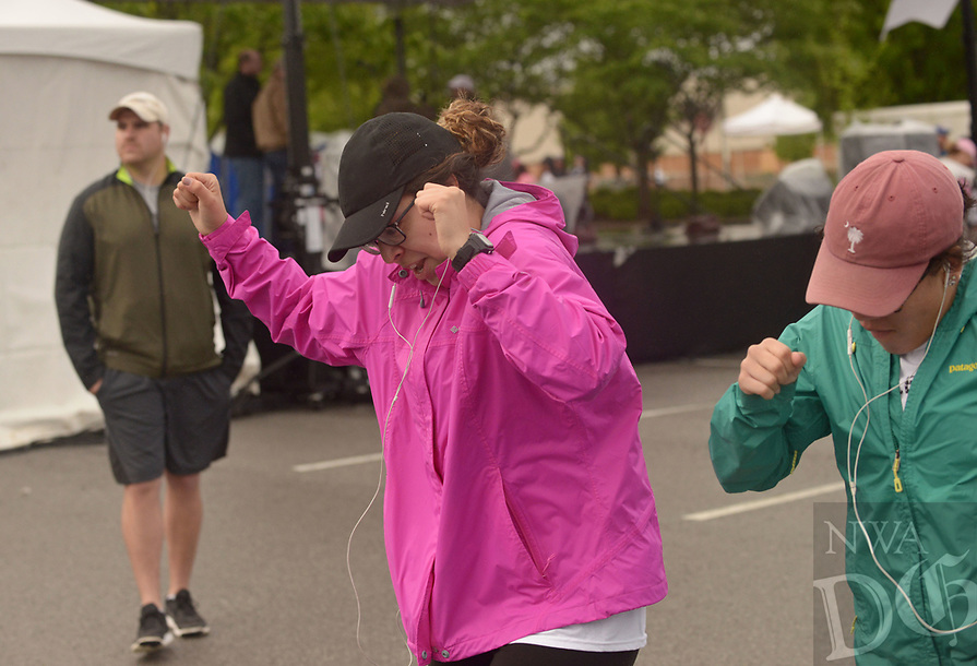 NWA Democrat-Gazette/BEN GOFF @NWABENGOFF<br /> Participants attend the opening ceremony Saturday, April 22, 2017, during the annual Susan G. Komen Ozark Race for the Cure at Pinnacle Hills Promenade in Rogers.