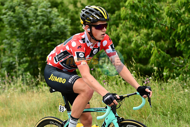 The breakaway group including Koen Bouwman (NED) Lotto Nl-Jumbo in action during Stage 3 of the Criterium du Dauphine 2017, running 184km from Chambon-sur-Lignon to Tullins, France. 6th June 2017. <br /> Picture: ASO/A.Broadway | Cyclefile<br /> <br /> <br /> All photos usage must carry mandatory copyright credit (&copy; Cyclefile | ASO/A.Broadway)
