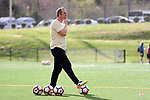 CHARLOTTE, NC - MARCH 25: Courage assistant coach Scott Vallow. The NWSL's North Carolina Courage played their first preseason game against the University of Tennessee Volunteers on March 25, 2017, at Queens University of Charlotte Sports Complex in Charlotte, NC. The Courage won the match 3-0.