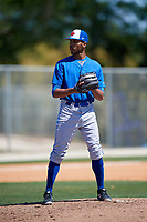 Toronto Blue Jays pitcher Kelyn Jose (83) during a Minor League Spring Training Intrasquad game on March 14, 2018 at Englebert Complex in Dunedin, Florida.  (Mike Janes/Four Seam Images)
