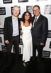 Daphne Rubin Vega, Anthony Rapp, Michael Greif attends New York Theatre Workshop's 2017 Spring Gala at the Edison Ballroom on May 15, 2017 in New York City.