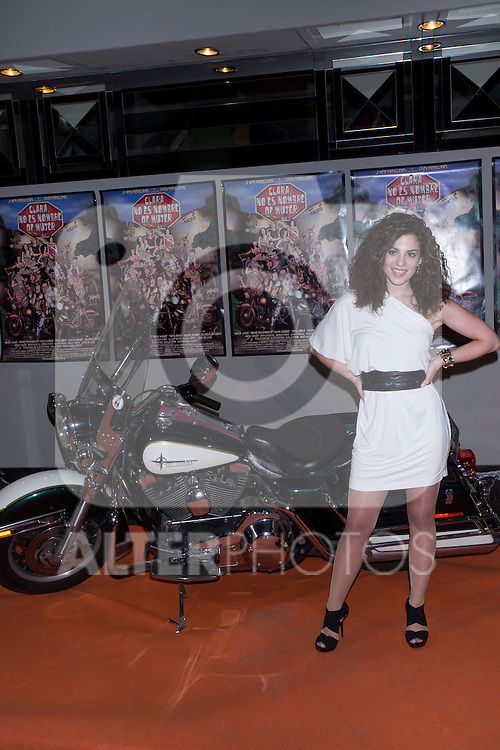 "30.05.2012. Premiere at the Callao Cinema in Madrid of the spanish movie ""Clara is not woman's name"" A comedy directed by Pepe Carbajo. In the image Gaelle Diego(Alterphotos/Marta Gonzalez)"