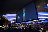 Attendees listen listen as U.S. President Donald Trump delivers remarks at the National Prayer Breakfast February 2, 2017 in Washington, DC. Every U.S. president since Dwight Eisenhower has addressed the annual event.  <br /> Credit: Win McNamee / Pool via CNP