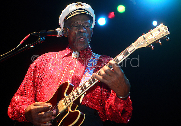 Rock legend Chuck Berry performs to a sold-out crowd at The Pageant in St. Louis, Mo., on December 13, 2008.