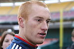 17 November 2007: Jeff Larentowicz. The New England Revolution practiced at RFK Stadium in Washington, DC one day before playing in MLS Cup 2007, Major League Soccer's championship game.