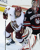 Pat Mullane (BC - 11), Chris Rawlings (NU - 37) - The Boston College Eagles defeated the Northeastern University Huskies 5-1 on Saturday, November 7, 2009, at Conte Forum in Chestnut Hill, Massachusetts.