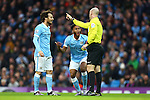 Raheem Sterling of Manchester City protests against his yellow card - Manchester City vs Sunderland - Barclays Premier League - Etihad Stadium - Manchester - 26/12/2015 Pic Philip Oldham/SportImage