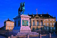 Statue of King Frederik V, Amalienborg Palace, Copenhagen, Denmark