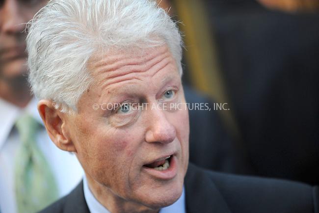 WWW.ACEPIXS.COM . . . . . .September 20, 2010, New York City.... Bill Clinton leaving the Late Show with David Letterman on September 20, 2010 in New York City....Please byline: KRISTIN CALLAHAN - ACEPIXS.COM.. . . . . . ..Ace Pictures, Inc: ..tel: (212) 243 8787 or (646) 769 0430..e-mail: info@acepixs.com..web: http://www.acepixs.com .