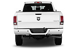 Straight rear view of a 2015 Ram 2500 Laramie 4 Door Truck stock images