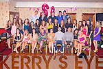 KEY TO THE DOOR: Linda Kennedy, Castleisland (seated centre) enjoying a great time celebrating her 21st birthday with a large group of family and friends at the Crown hotel, Castleisland on Saturday.