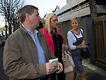 Andrew and Angela Furlong and their daughter Andrea  arrive at the Tokyo District Court for the third day of proceedings in the case of Richard Hinds, who is accused of murdering Nicola last May, in Tokyo, Japan on 05 March 2013. NO PHOTOGRAPHER CREDIT PLEASE