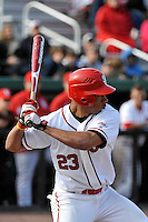 St.John's Red Storm outfielder Kevin Grove (23)  during a game against the Louisville Cardinals at Jack Kaiser Stadium in Queens, New York;  April 15, 2011.  St. John's defeated Louisville 8-2.  Photo By Tomasso DeRosa/Four Seam Images