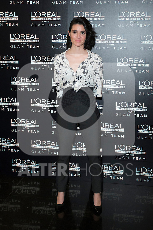 Actress Iraia Elias poses during a Loreal promotional presentation in Madrid, Spain. January 14, 2016. (ALTERPHOTOS/Victor Blanco)