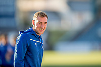 30th November 2019; Dens Park, Dundee, Scotland; Scottish Championship Football, Dundee Football Club versus Queen of the South; Kevin Holt of Queen of the South inspects the pitch before the match - Editorial Use
